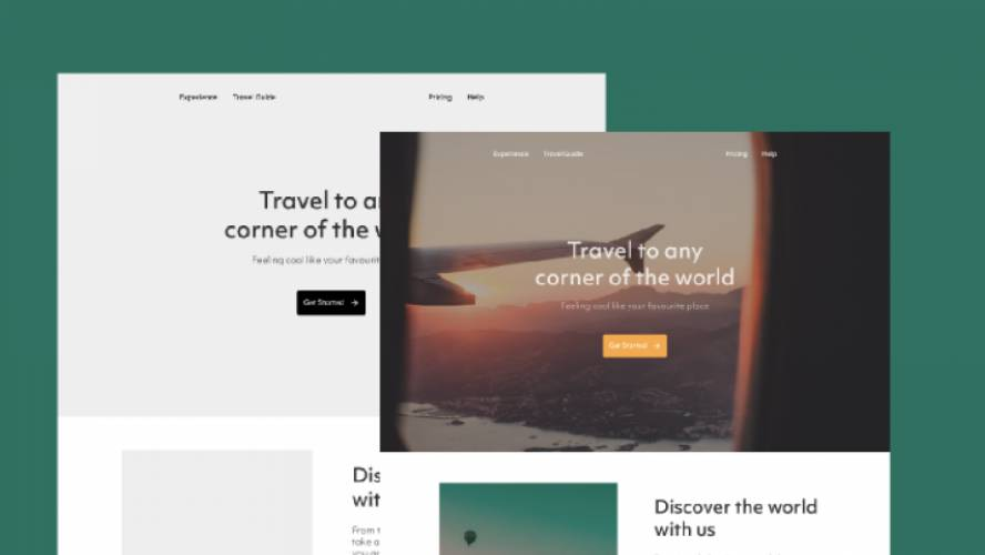 Travel agency landing page Figma Template