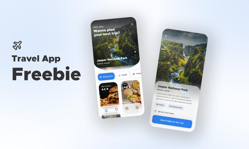 Travel App Freebie Figma