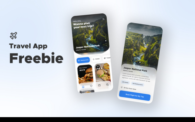 Travel App Freebie Figma