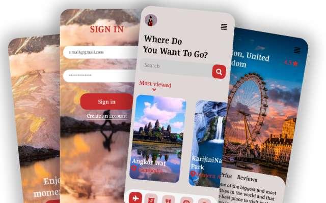 Travel Sevice UI App figma