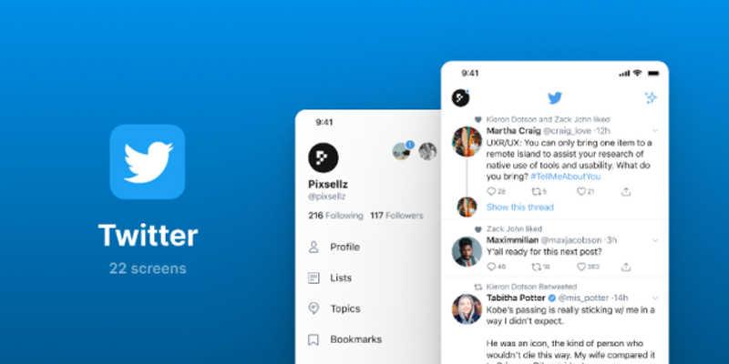 Twitter UI Screens
