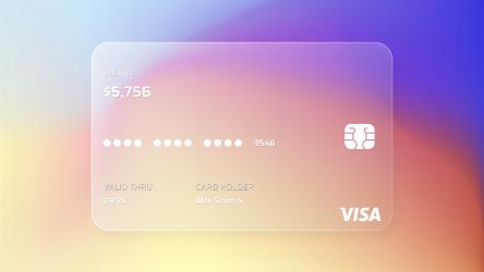UI Design Credit Card | Glassmorphism figma free