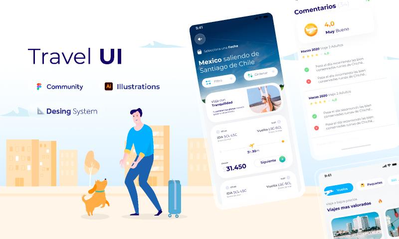 UI Kit Travel App Figma