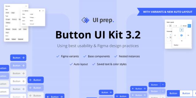 UI Prep Buttons 3.2 Figma template