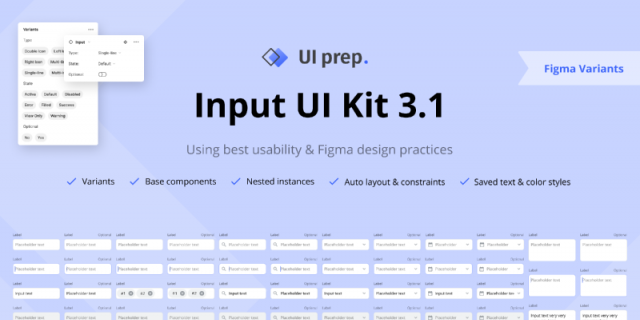 UI Prep Inputs 3.1 Figma template