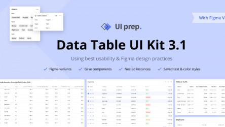 UI Prep Tables 3.1 Figma templates