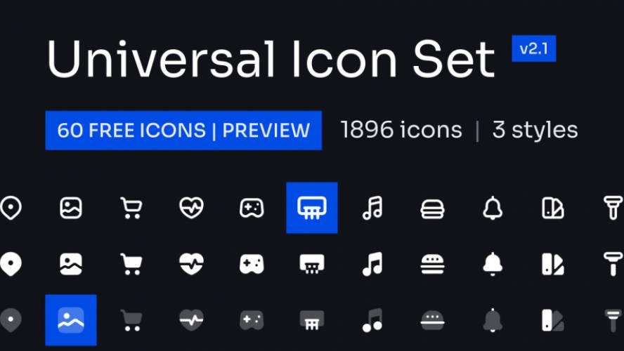 Universal Icon Set v2.0   Preview