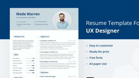 UX-Designer Figma Resume Template