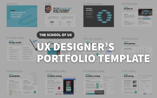 UX Designer's Portfolio template figma