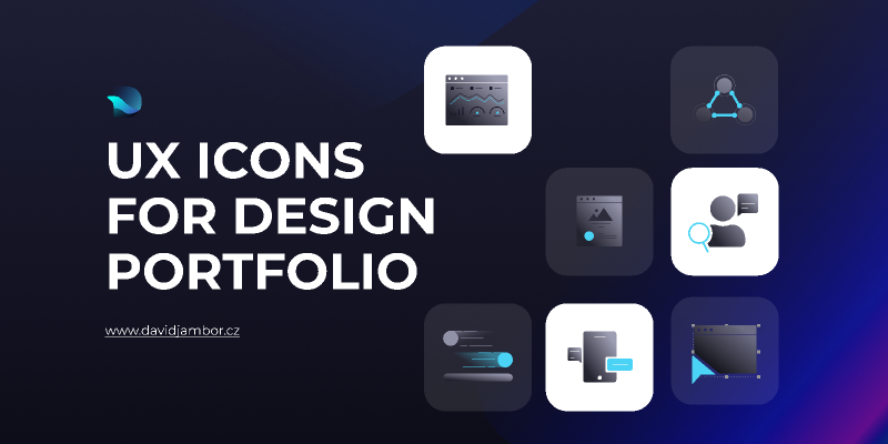 UX icons for design portfolio figma