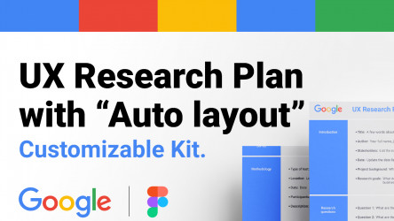 """UX Research Plan with """"Figma Auto layout"""""""