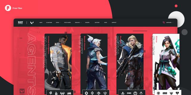 Valorant - Agents page concept design