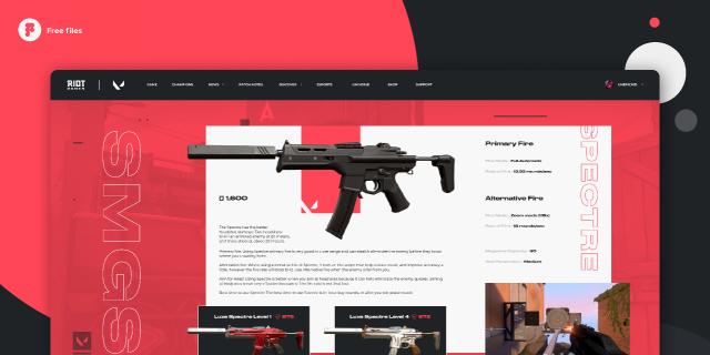 Valorant - Weapon Spectre page concept design