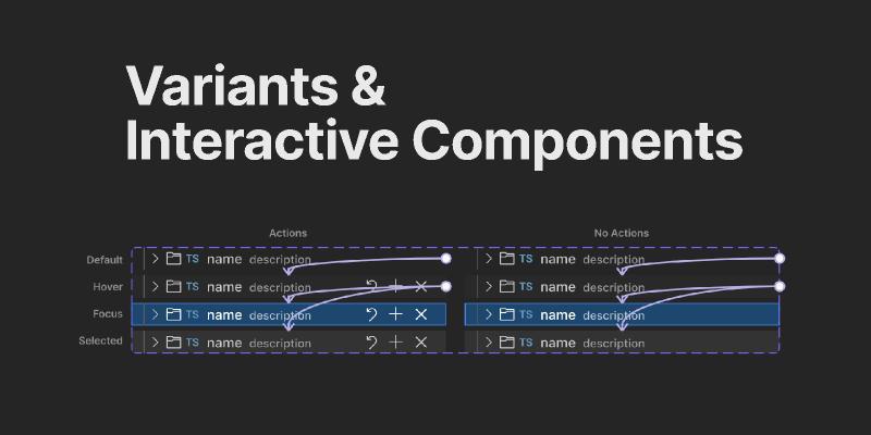 Variants & Interactive Components figma