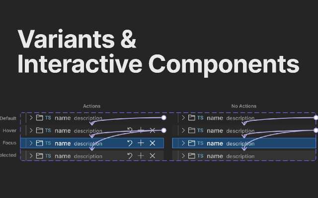 Variants & Interactive Components figma