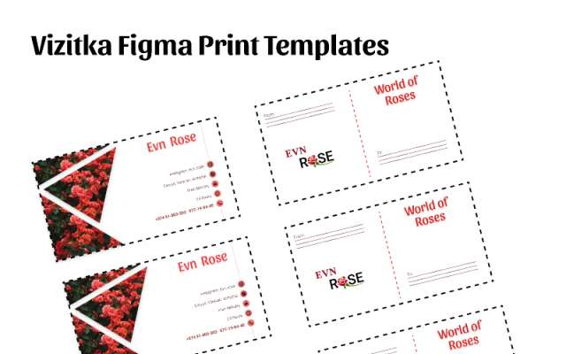 Vizitka Figma Print Templates