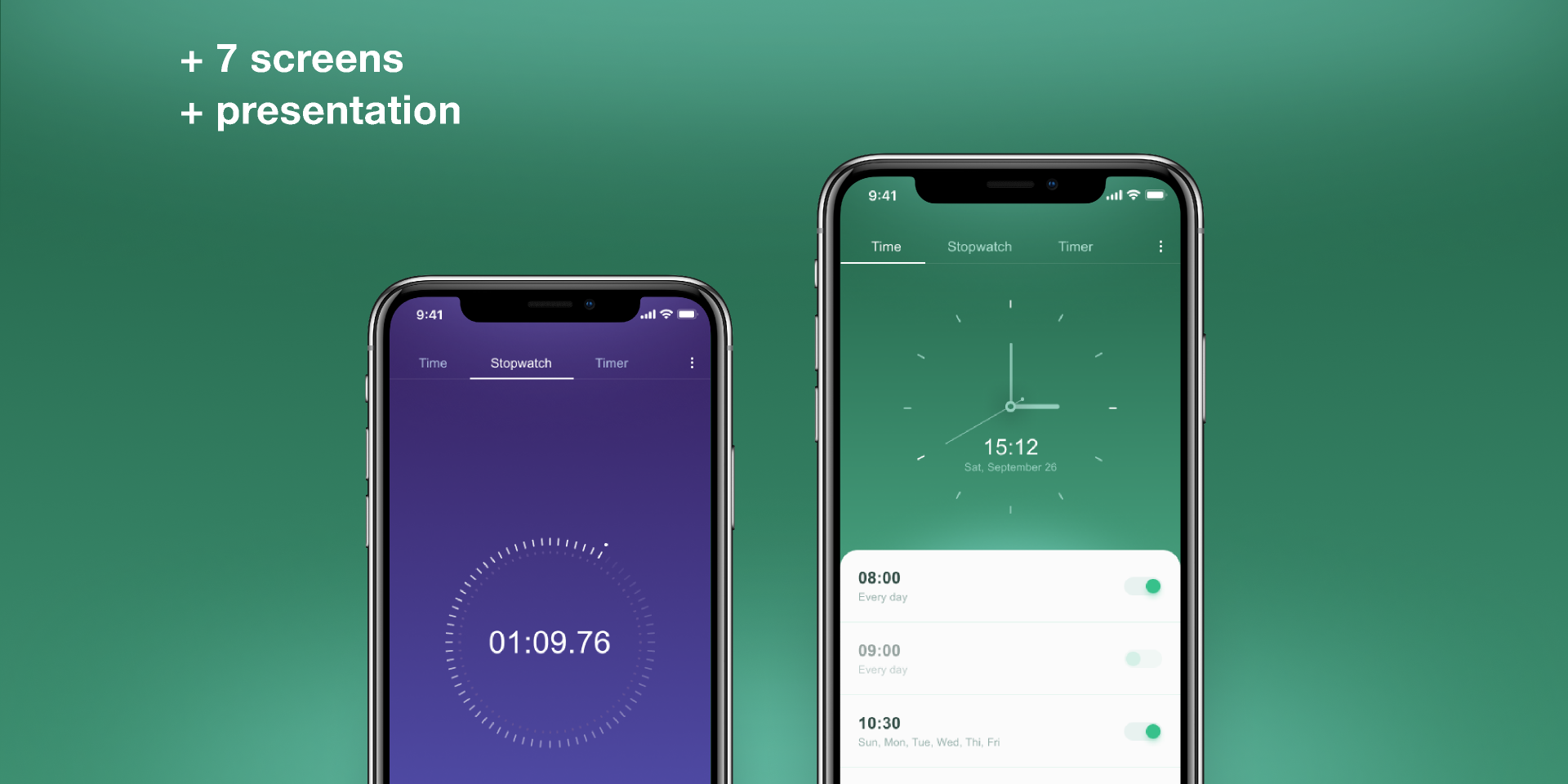 Watch Mobile Application Figma template