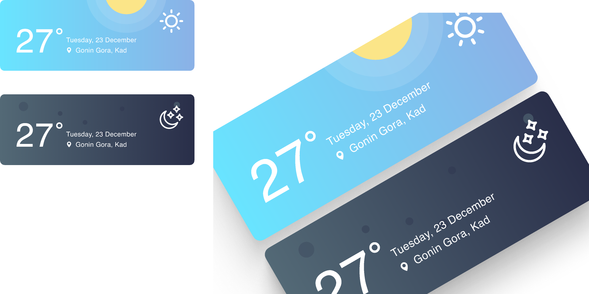 Weather Figma templates