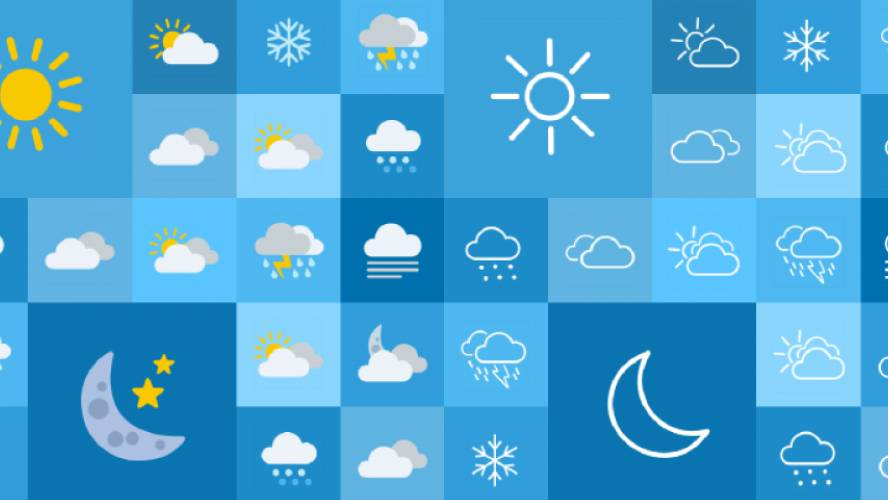 Weather Icons   Flat & Outline figma icon free