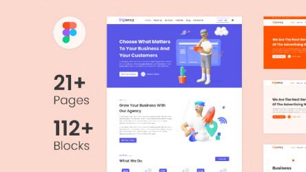 Web Template, Landing Page for Multipurpose Website Design