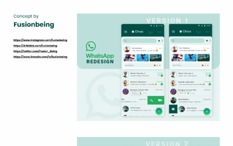 Whatsapp Redesign Concept figma