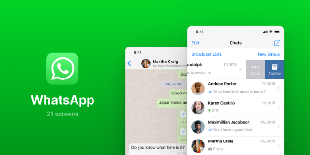 WhatsApp UI Screens