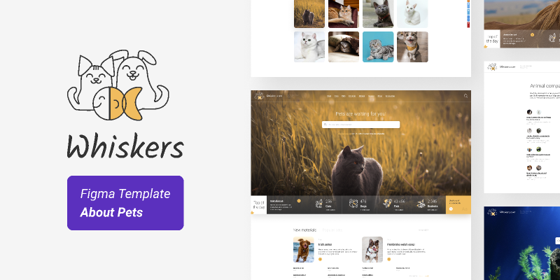 Whiskers — Pets Template (Full Demo)