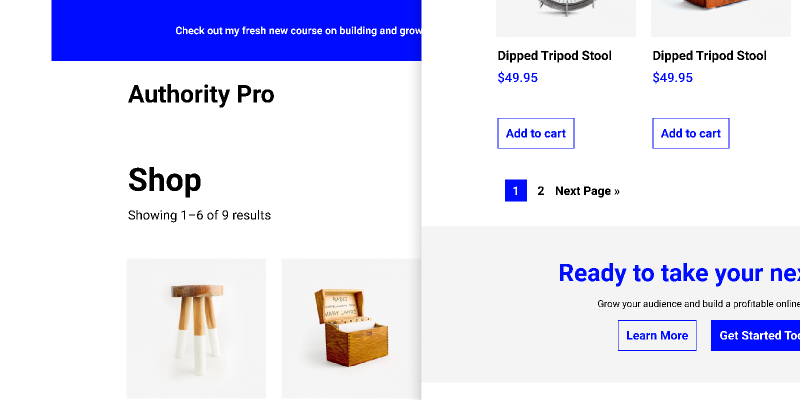 Wordpress Authority Pro Shop Figma