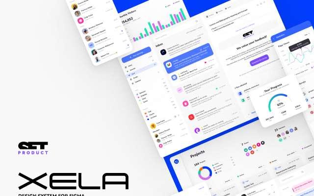 Xela UI kit - Design System Figma Free