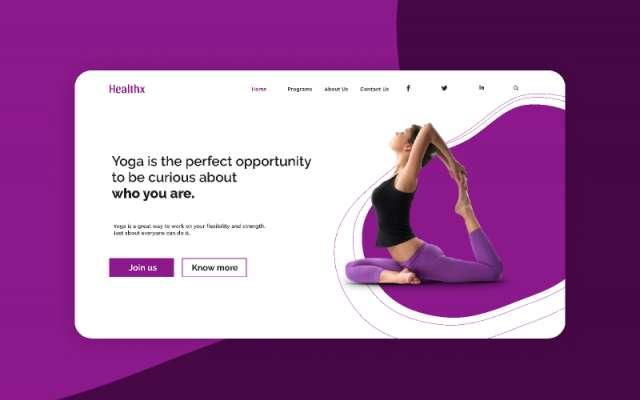 Yoga landing page figma