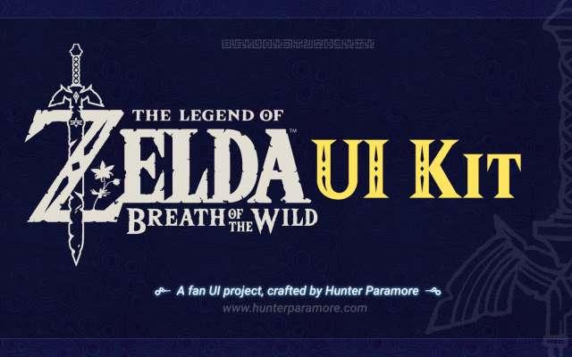 Zelda BOTW UI Game template